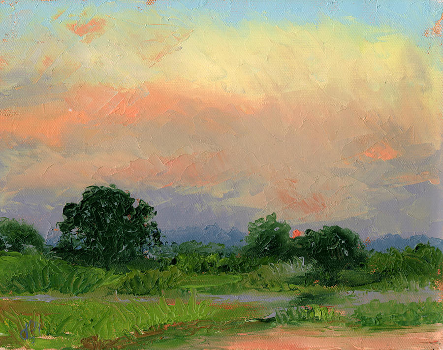 Florida Painting - Enchanted Evening by Diane Martens