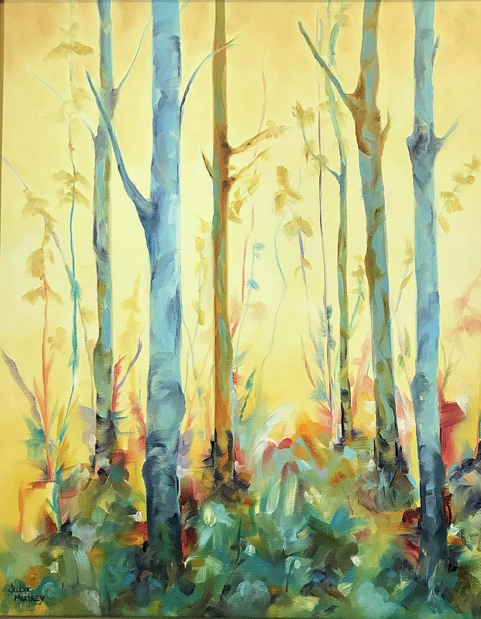 Trees Painting - Enchanted Forest by Judie Mulkey