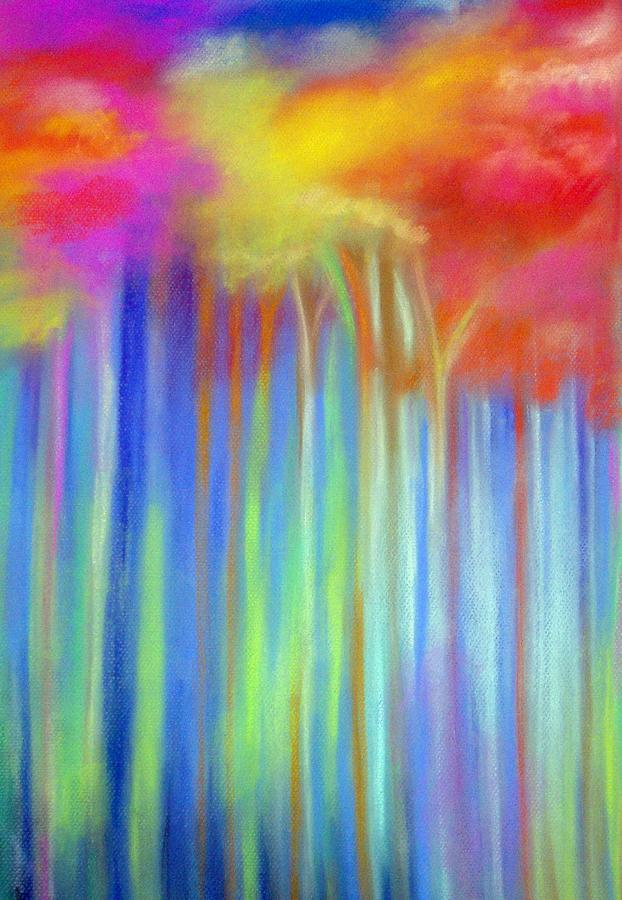 Enchanted Forest  Painting by Maritza Bermudez