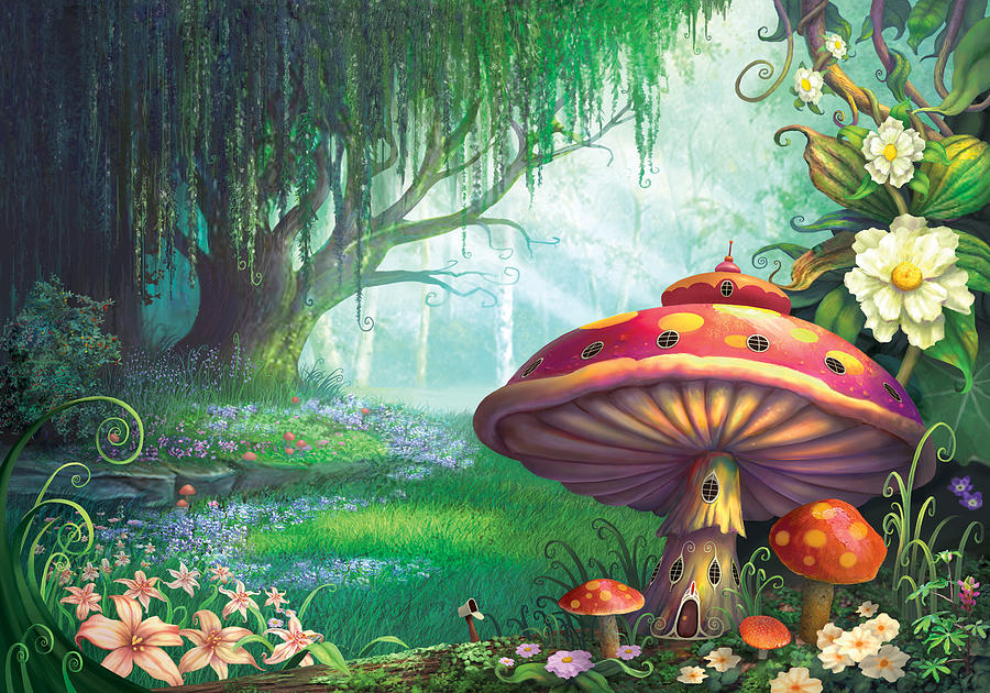 Philip Straub Painting - Enchanted Forest by Philip Straub