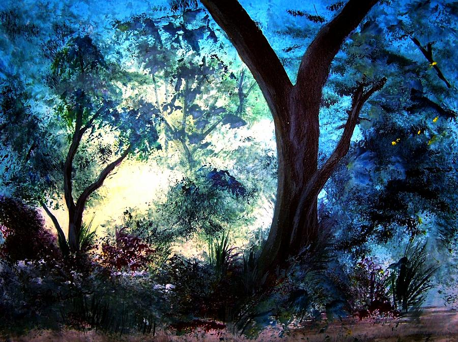 Landscape Painting - Enchanted Forest by Sherri Patterson