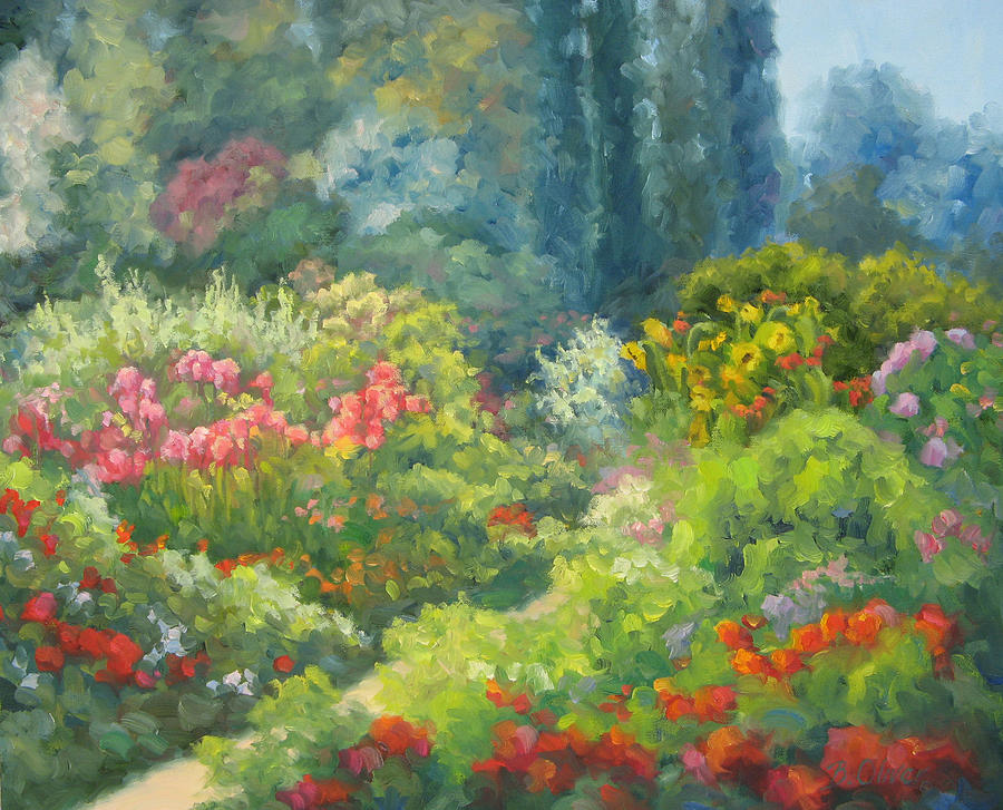 Landscape Painting - Enchanted Garden by Bunny Oliver