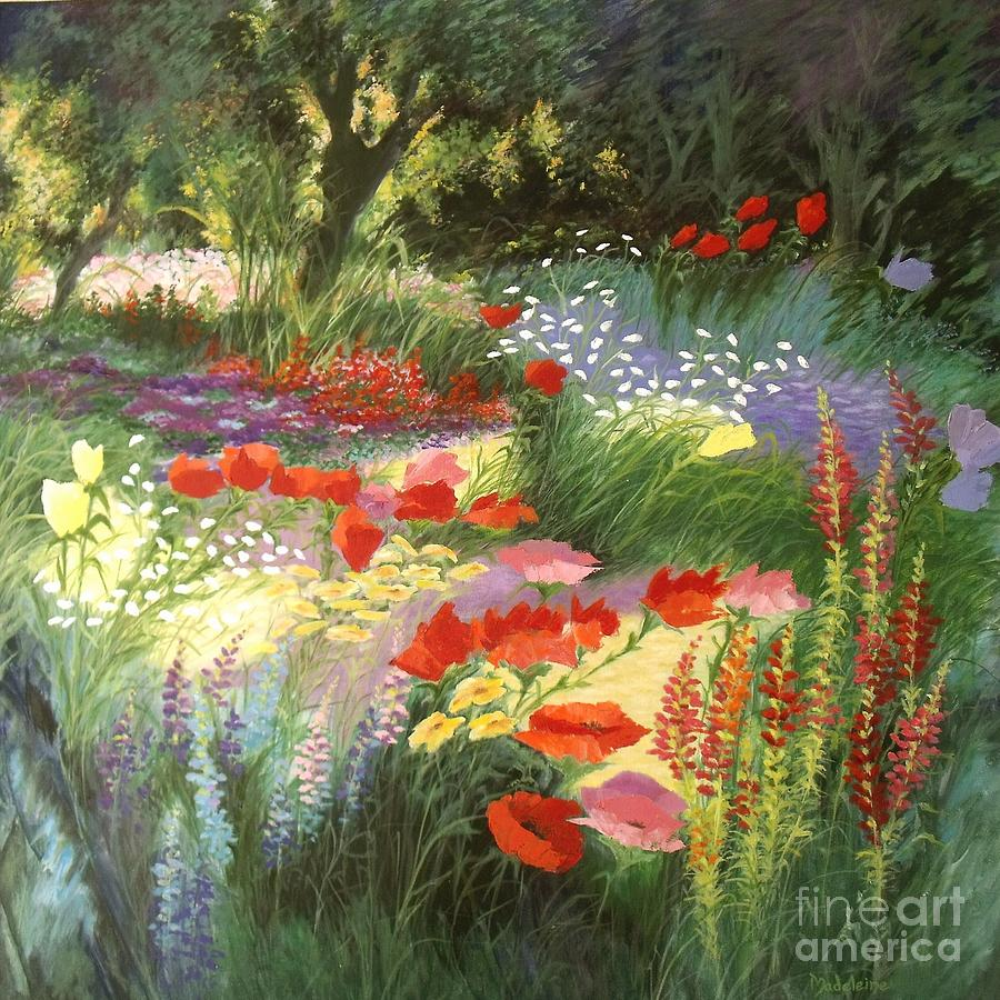 Enchanted Garden: Enchanted Garden Painting By Madeleine Holzberg