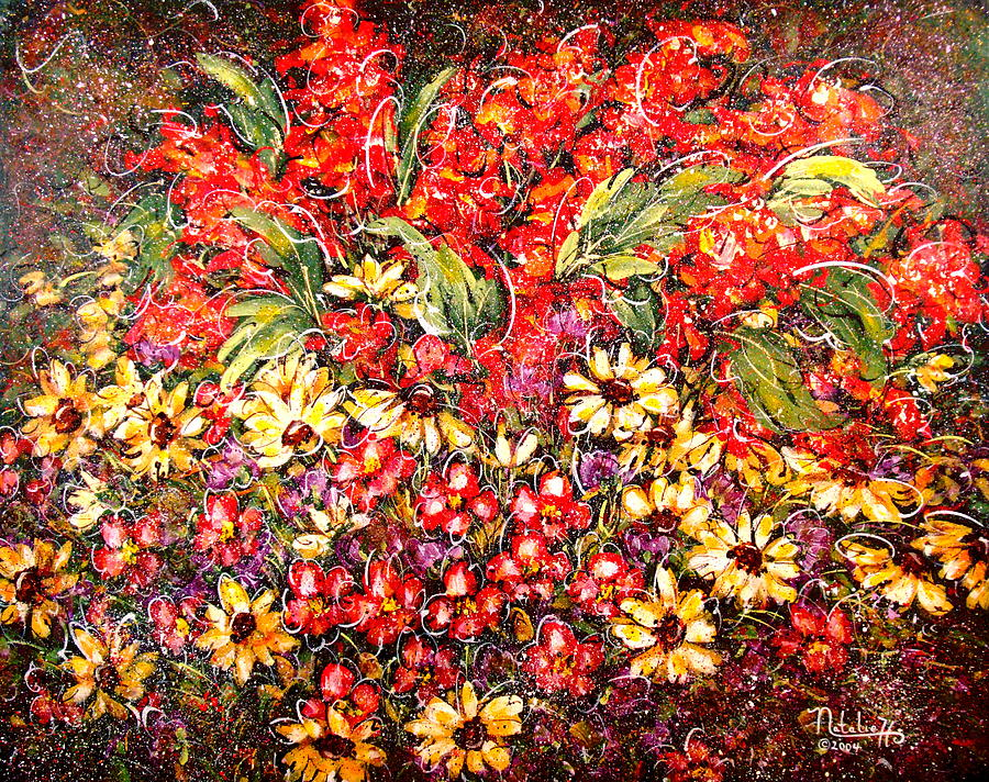 My Garden Painting - Enchanted Garden by Natalie Holland