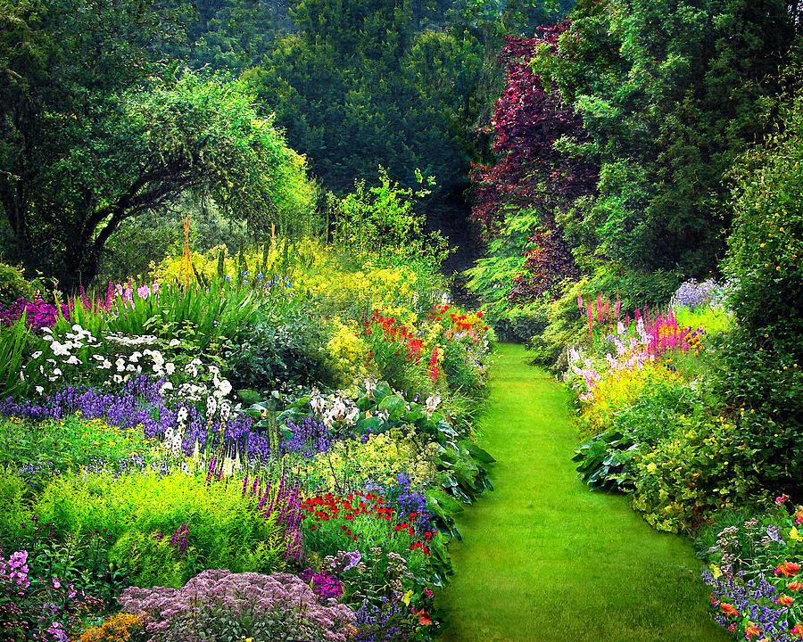 Enchanted Garden: Enchanted Garden Digital Art By Vicki Lea Eggen