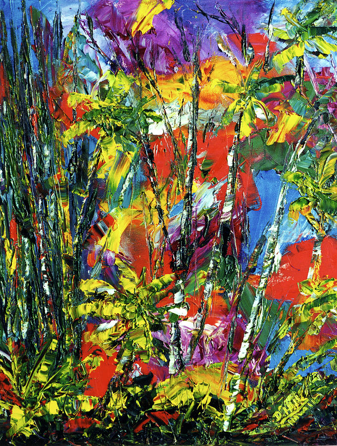 Abstract Painting Painting - Enchanted Jungle  #167 by Donald k Hall
