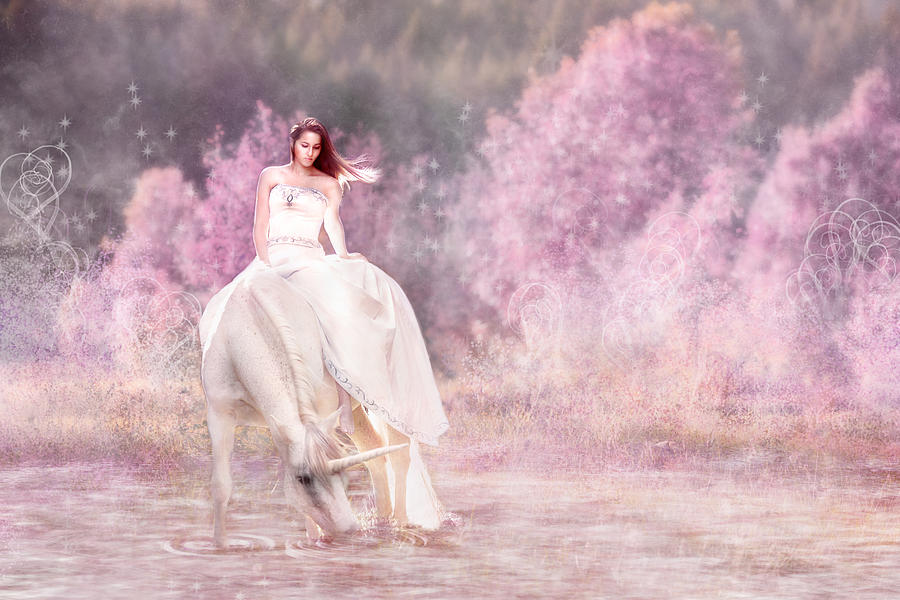 Pretty Girl Digital Art - Enchanted  by Pamela Hagedoorn