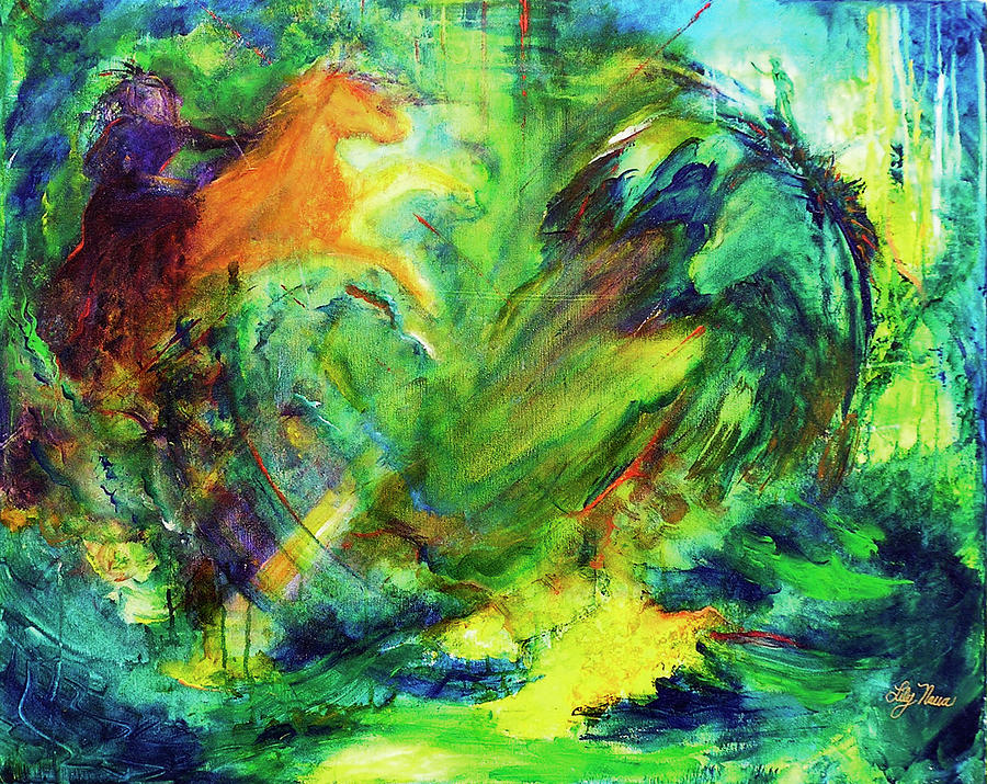 Enchanted Realm Painting by Lily Nava-Nicholson