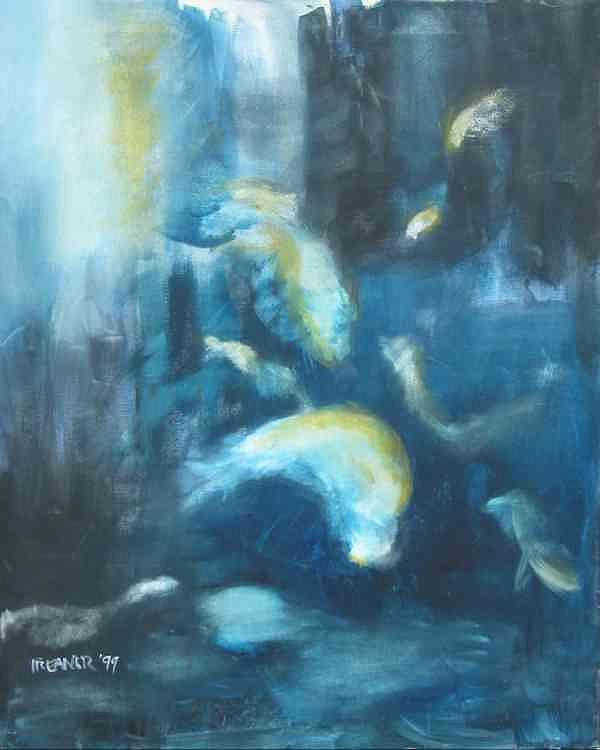 Ocean Painting - Enchanted Sea by Halle Treanor