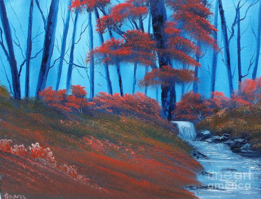 Landscape Painting - Enchanted Surrealism by Cynthia Adams