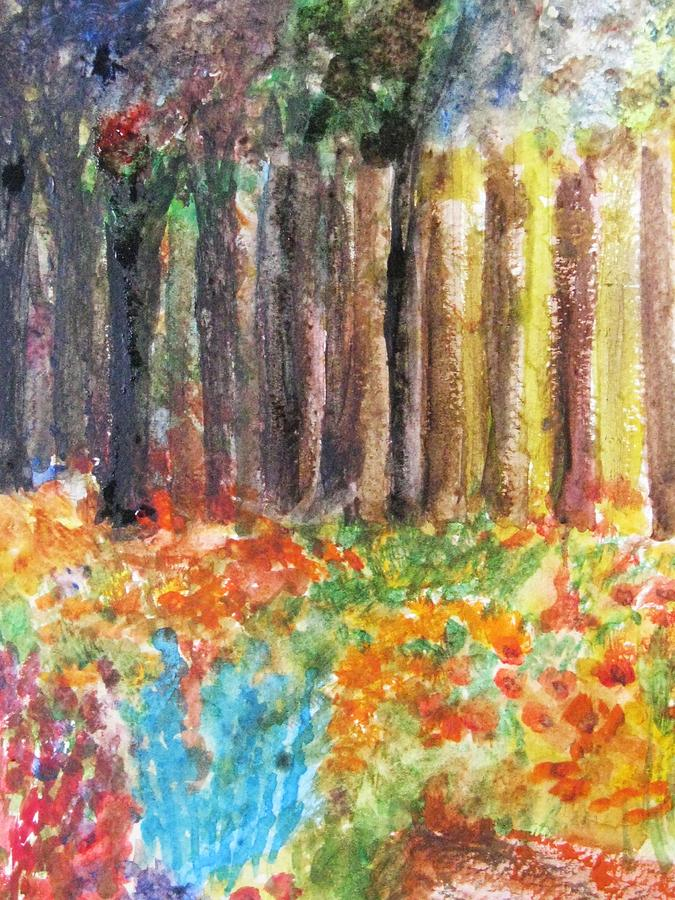 Woods Painting - Enchanted Woods by Trilby Cole