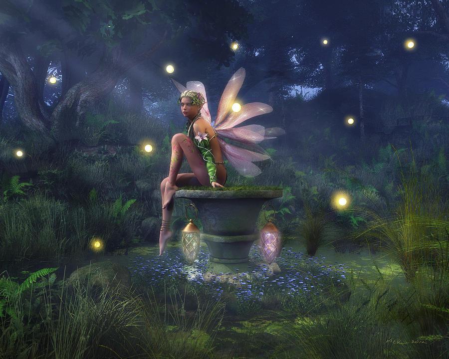 Forest Digital Art - Enchantment - Fairy Dreams by Melissa Krauss
