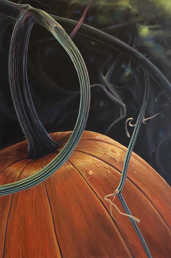Pumpkin Painting - Enchantment by Hunter Jay