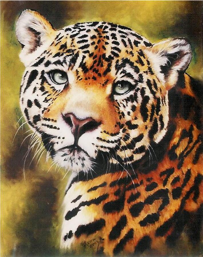 Jaguar Pastel - Enchantress by Barbara Keith