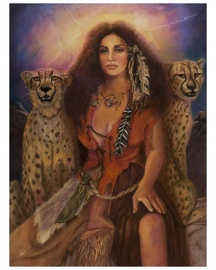 Enchantress Of The Forrest Pastel by Pamela Mccabe