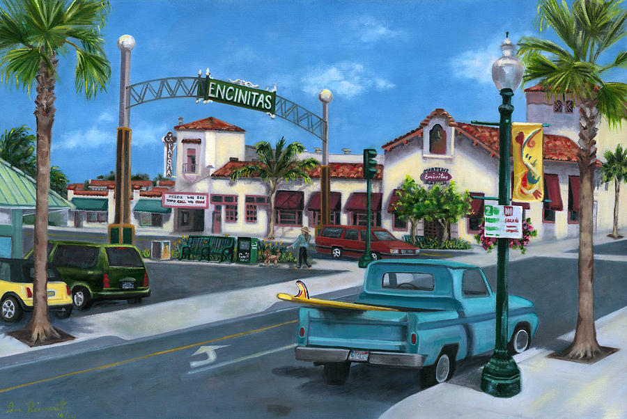Encinitas Painting - Encinitas Dreaming by Lisa Reinhardt