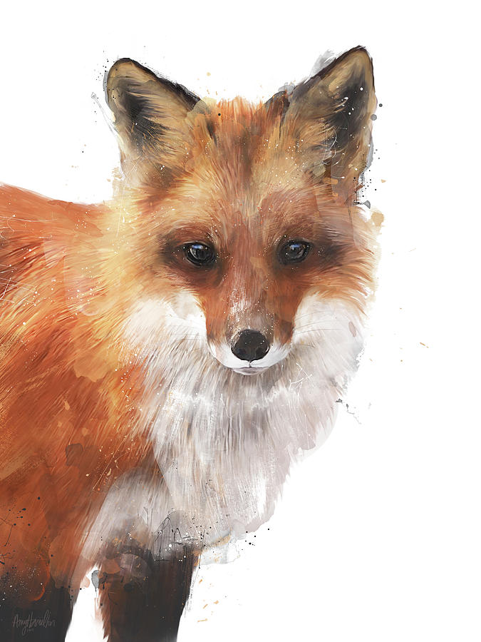 Fox Painting - Encounter by Amy Hamilton