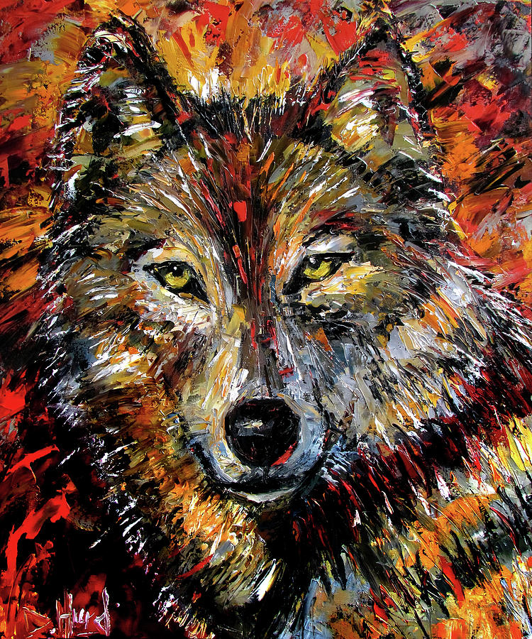 Reds Painting - Encounter by Debra Hurd