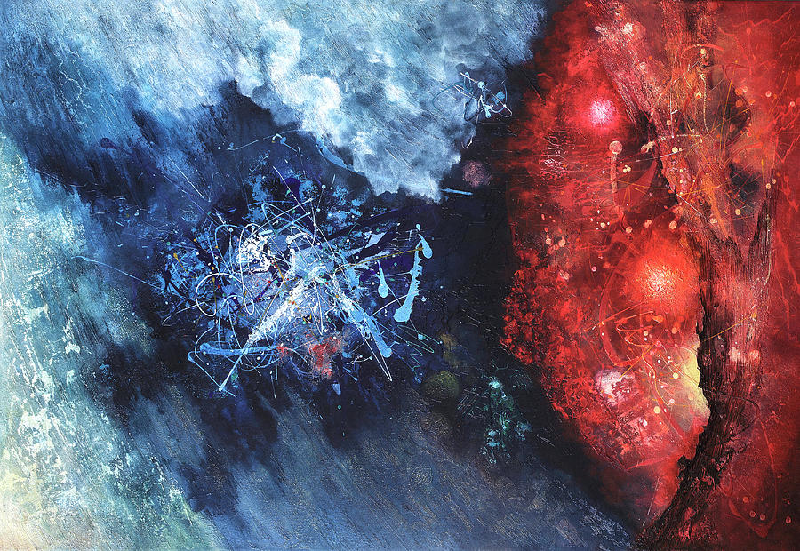 Abstract Painting Painting - Encounter by Vasco Kirov
