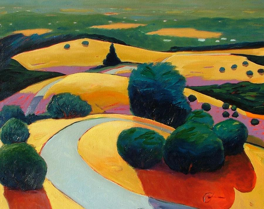 Rolling Hills Painting - End In Sight by Gary Coleman