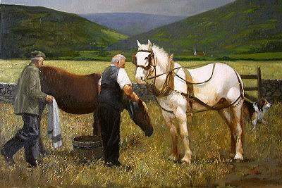 Ireland Painting - End o The Day by Martin Driscoll