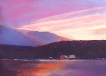 Pastel Painting - End Of A Perfect Day by Judith DAgostino