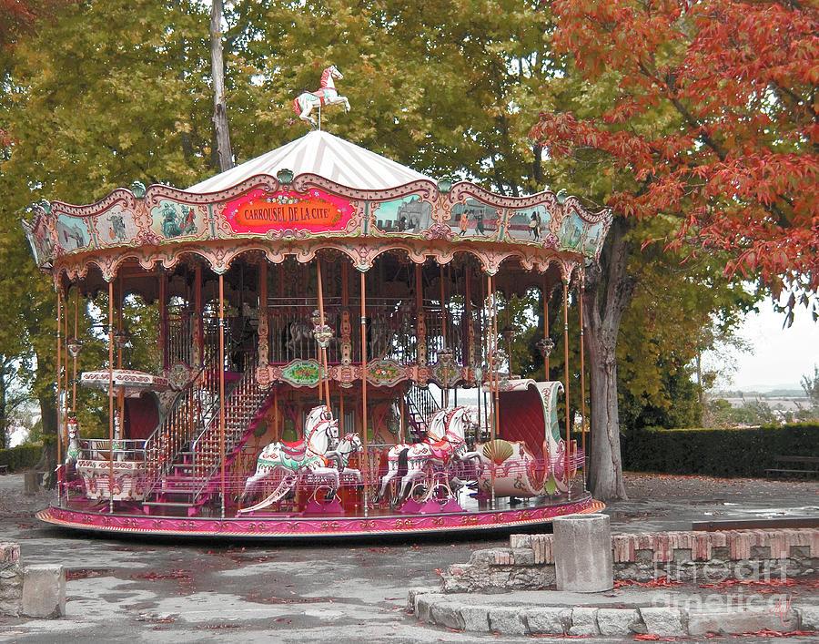 Carousel Photograph - End Of A Season by Victoria Harrington