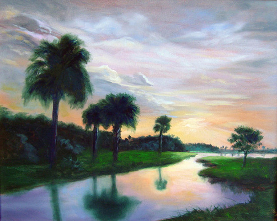 Florida Painting - End Of Day by Diane Martens