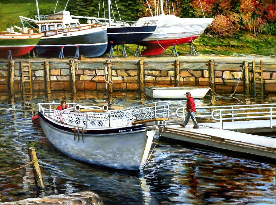 End Of Season Rockport Maine by Eileen Patten Oliver