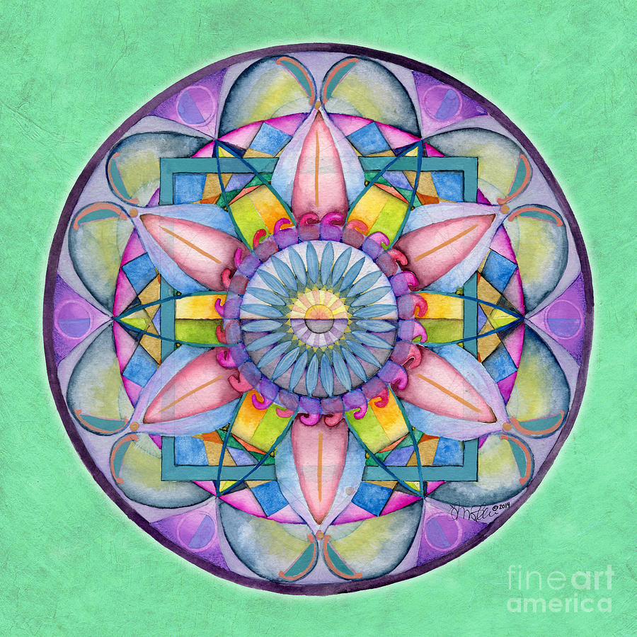 End Of Sorrow Mandala by Jo Thomas Blaine