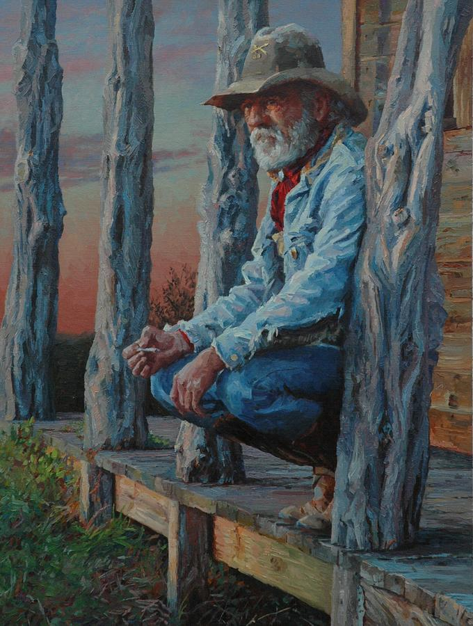 West Painting - End Of The Day by Jim Clements