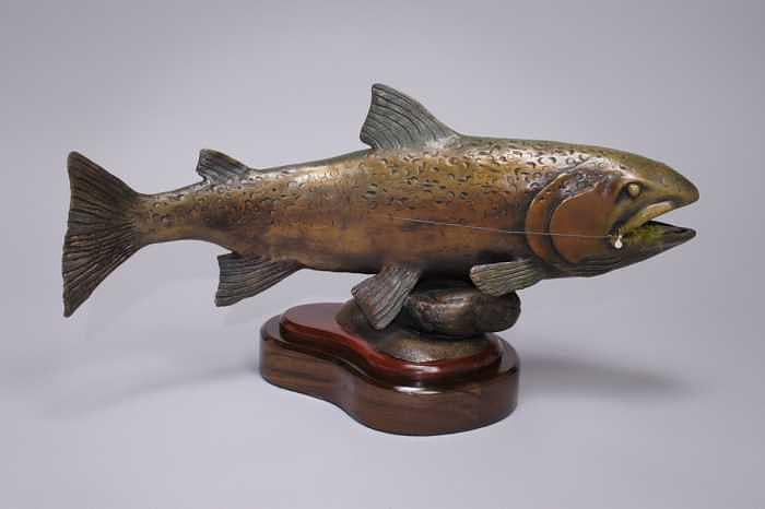 Fish Sculpture - End Of The Line by Fred Lunger