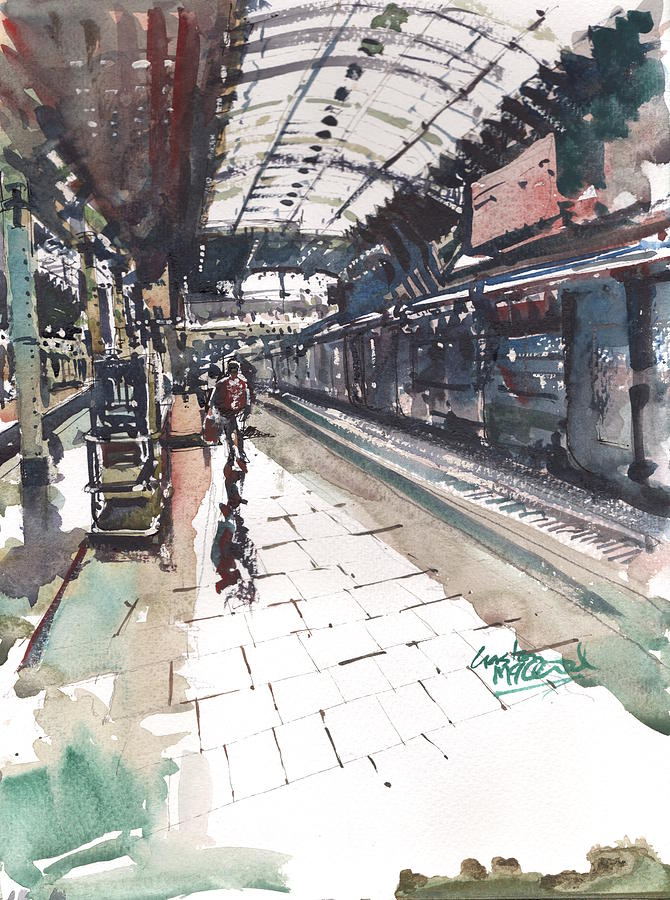 Railways Painting - End Of The Line by Gaston McKenzie