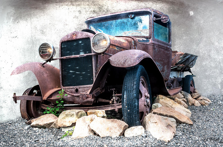 Rust Digital Art - End Of The Line by Tom Pickering of Photopicks Photography and Art