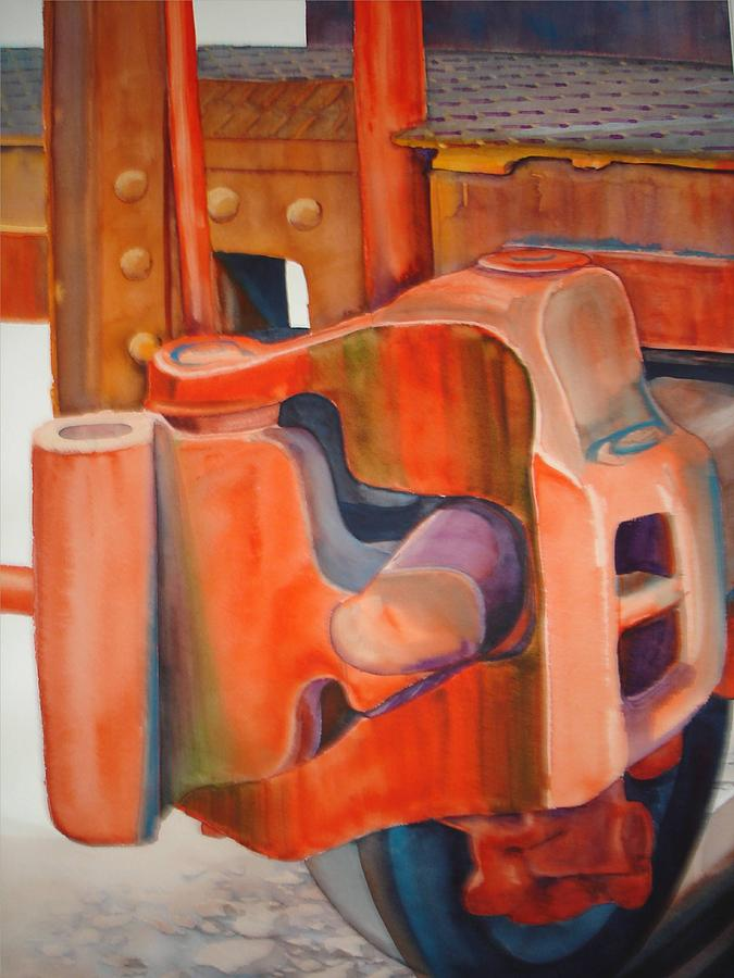 Machinery Painting - End Of The Line by Richard Staat