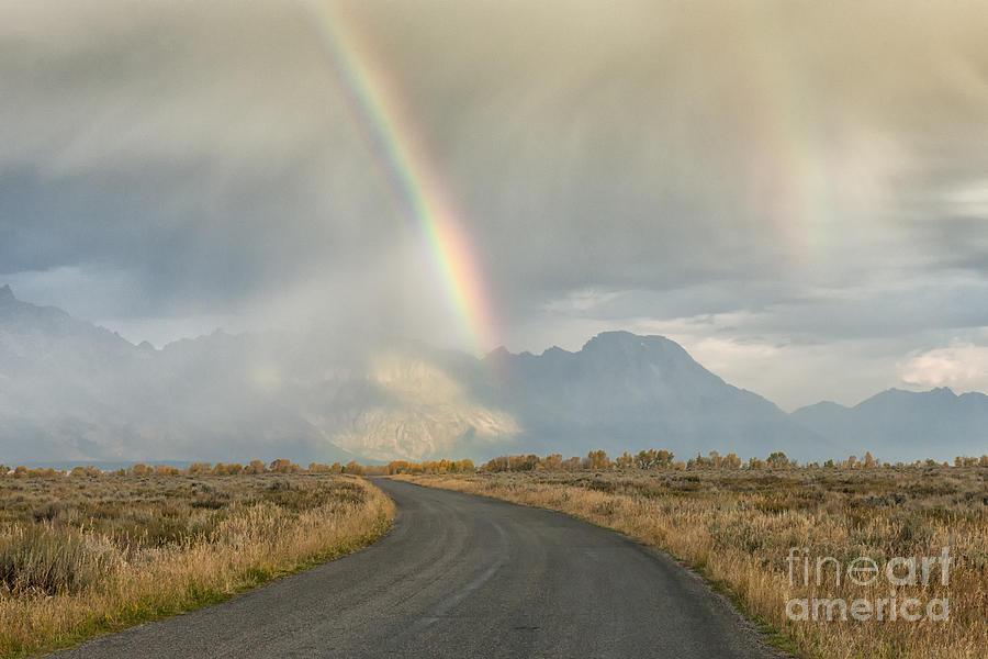 Grand Tetons Photograph - End Of The Rainbow by Sandra Bronstein