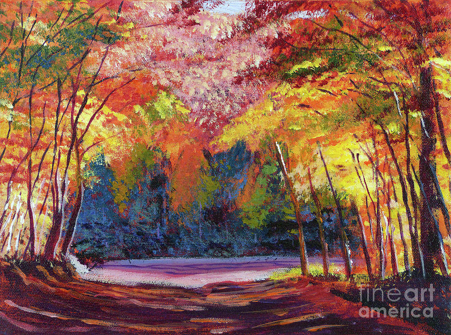 Autumn Painting - End Of The Road by David Lloyd Glover