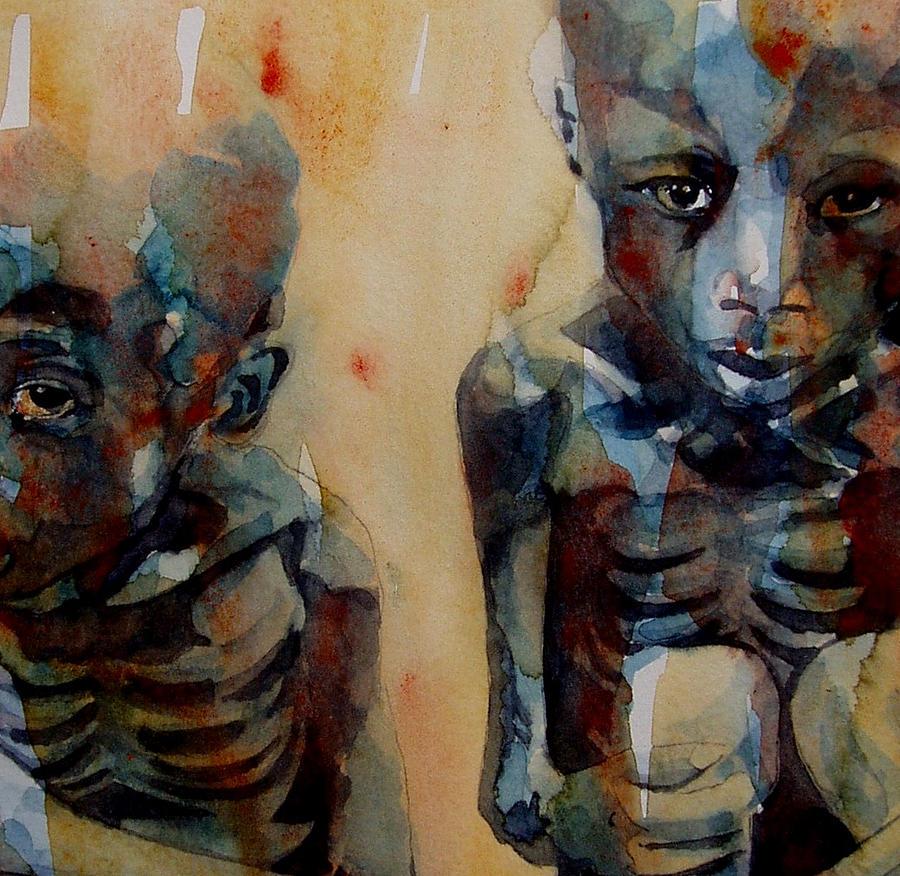 Sudan Painting - Endangered species by Paul Lovering
