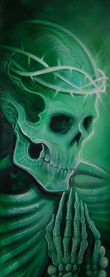 Skull Painting - Endless Faith  by Joshua South