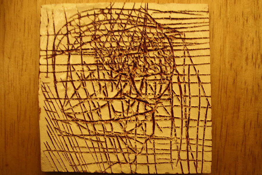 Jesus Ceramic Art - Endurance - Tile by Gloria Ssali