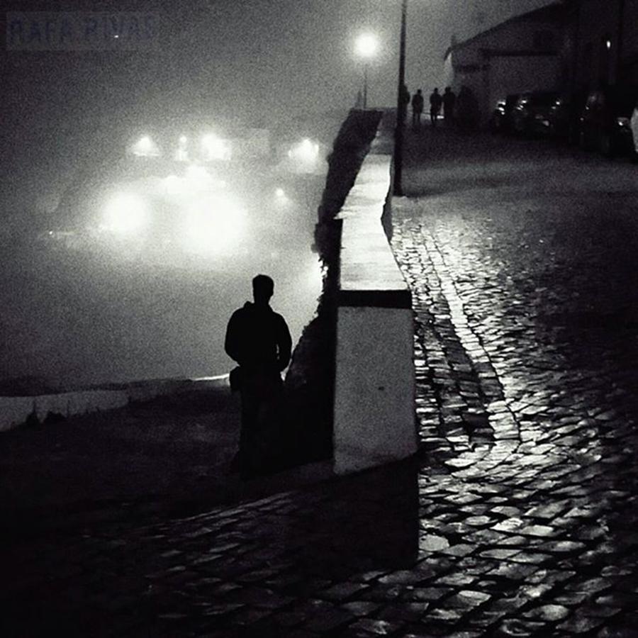 Shilouette Photograph - Eneko  #people #instapeople by Rafa Rivas