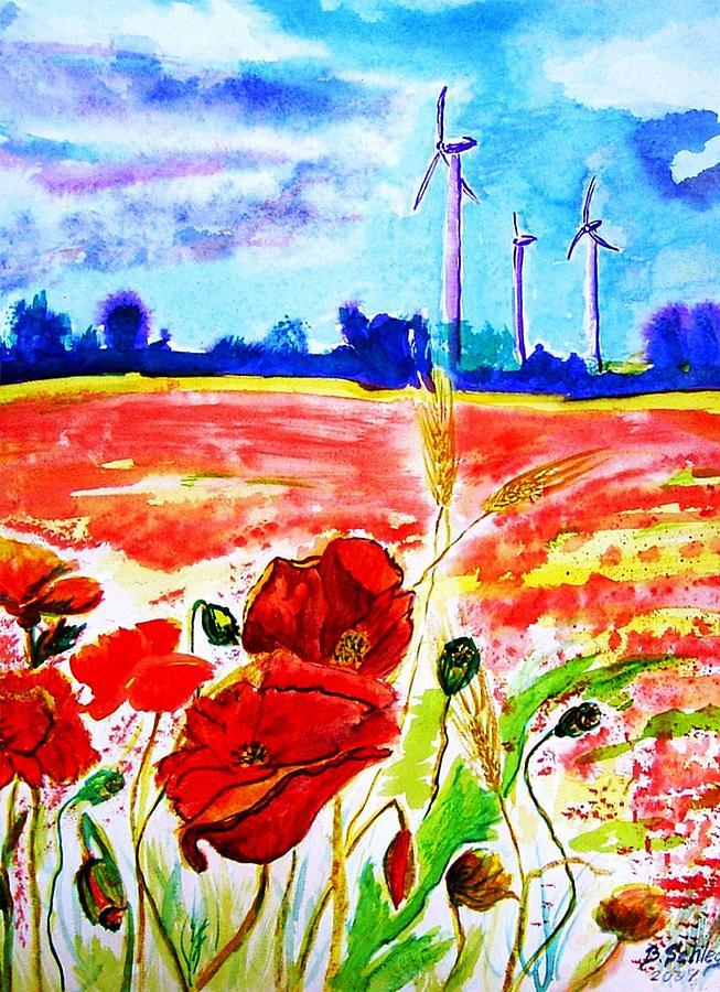 Rot Painting - Energie by Birgit Schlegel