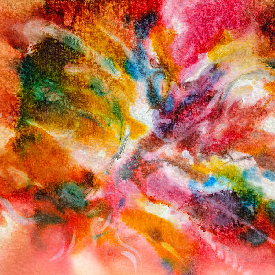 Abstract Painting - Energized - A - by Sandy Sandy