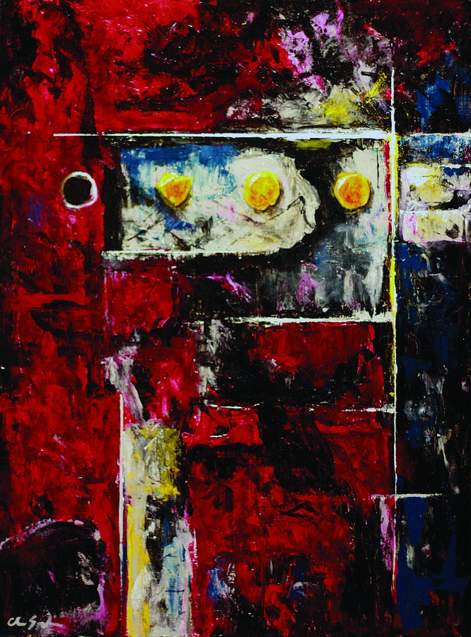 Red Painting - Energy by Chris Spuglio