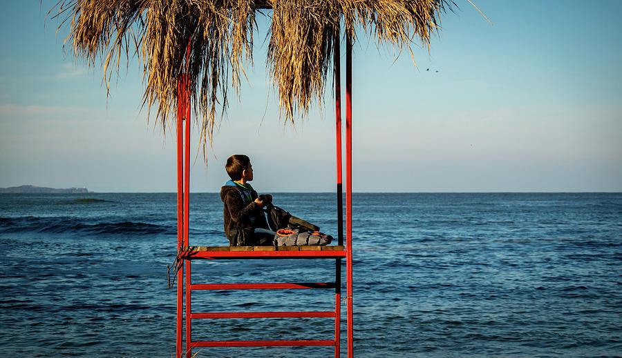 Sea Photograph - Happy Childhood by Boryana Kovaheva