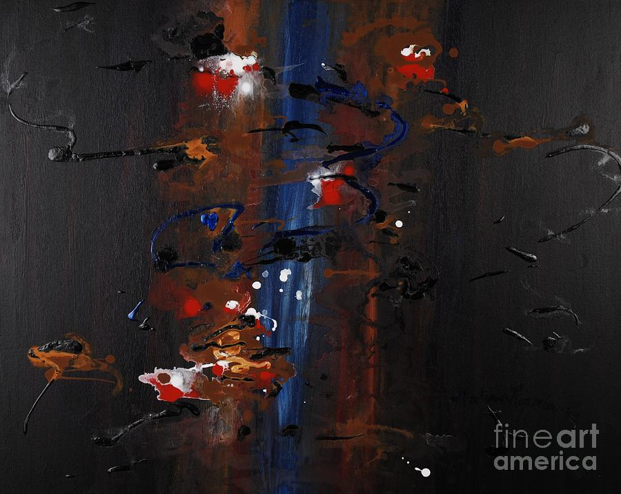 Black Painting - Energy by Nadine Rippelmeyer