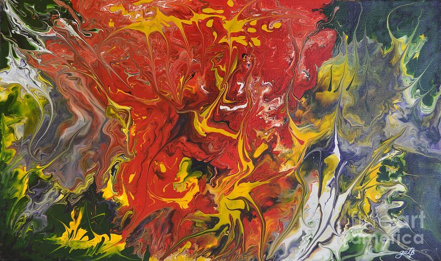 Abstract Painting - Energy Of Creation by Georgeta  Blanaru