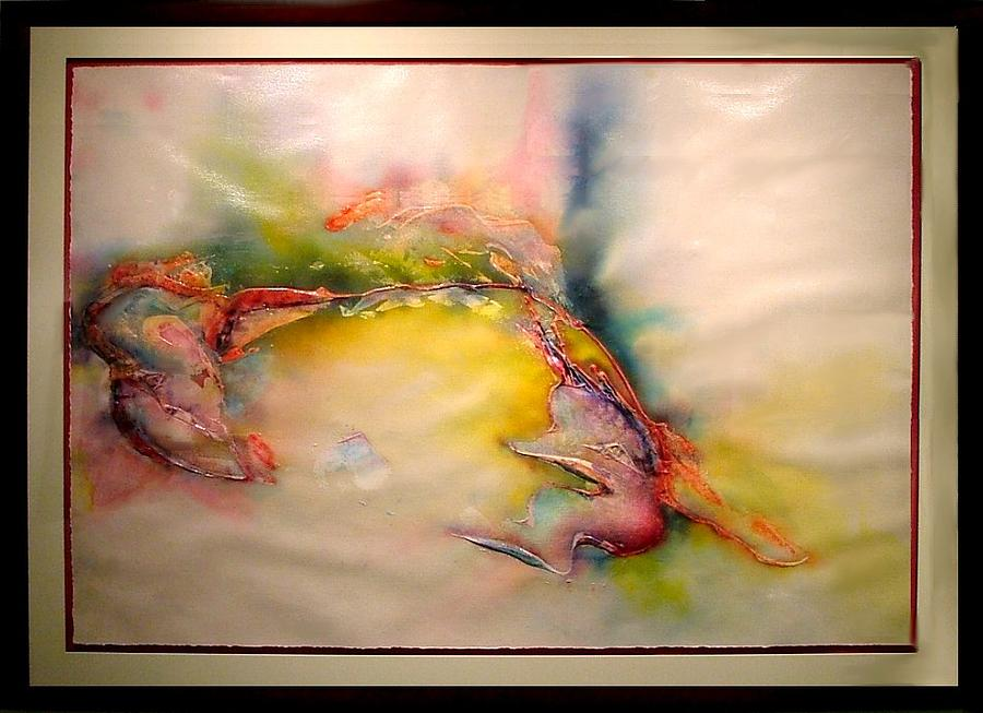 Abstract Painting - Engaging Conversation by Michael Stephens