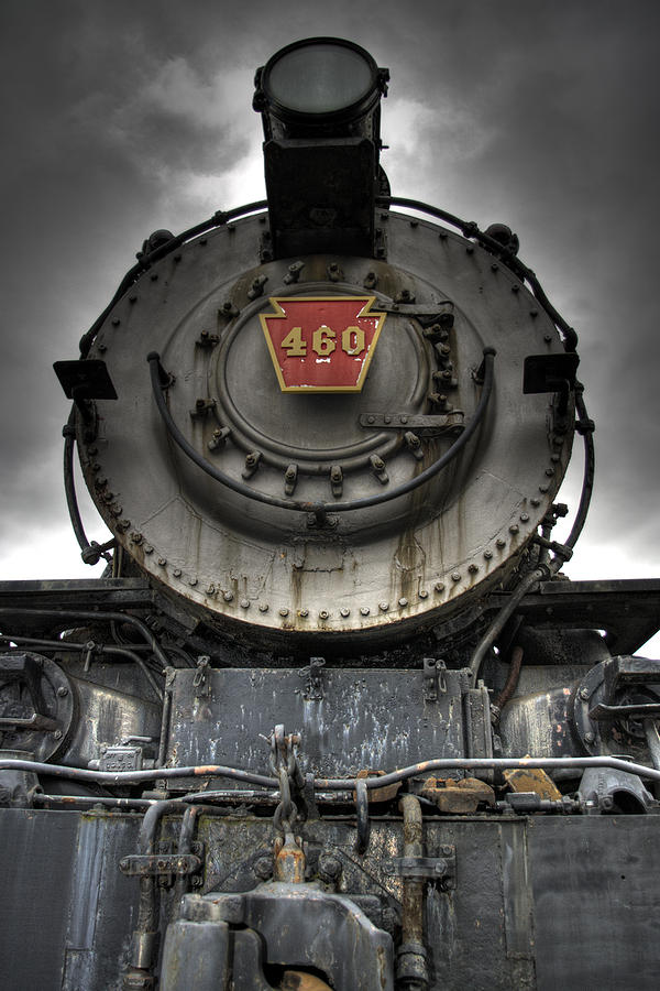 Hdr Photograph - Engine 460 Front And Center by Scott Wyatt