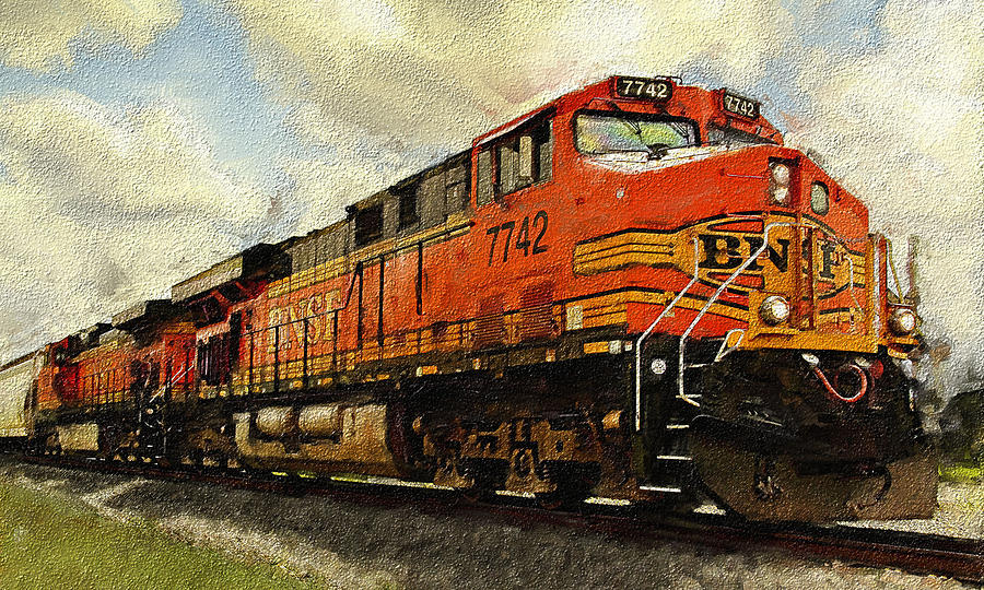 Desiel Photograph - Engine 7742 by Ken Gimmi